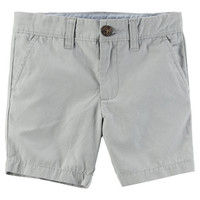 Flat-Front Canvas Shorts