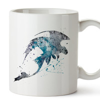 Dragon Night Fury - Toothless, How to Train Your Dragon Watercolor Coffee Mug, Kids Mug