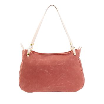 Catalina Canvas Leather Hobo Bag