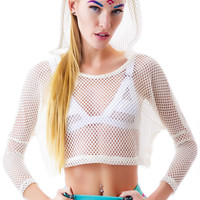 This Is A Love Song Manta Mesh Top White