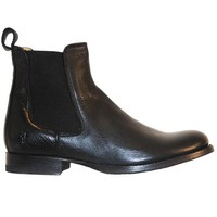 Frye Boot Erin Chelsea - Black Leather Dual Gore Pull-On Flat Boot