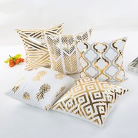 Gold Bronzing Throw Pillow Cases