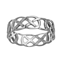 Sterling Silver Celtic Thumb Ring (Grey)