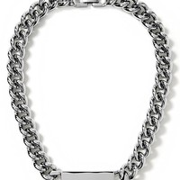 Banana Republic Link ID Necklace Size One Size - Silver