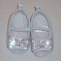 Baby Girls Rhinestone Shoes Bling Bow