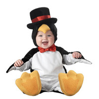 2016 Carnival Christmas Xmas Halloween Costume Infant Baby Boys Penguin Rompers Cosplay Newborn Toddlers Set