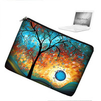Laptop Sleeve 13 inch MacBook Laptop Bag Apple MacBook Pro 13 Laptop Case zipper padded - Aqua Burn MadArt (RTS)