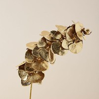 Gilded Faux Orchid Stem