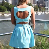 HEART CUT OUT DRESS , DRESSES, TOPS, BOTTOMS, JACKETS & JUMPERS, ACCESSORIES, 50% OFF , PRE ORDER, NEW ARRIVALS, PLAYSUIT, COLOUR, GIFT VOUCHER,,Blue,CUT OUT,SLEEVELESS Australia, Queensland, Brisbane