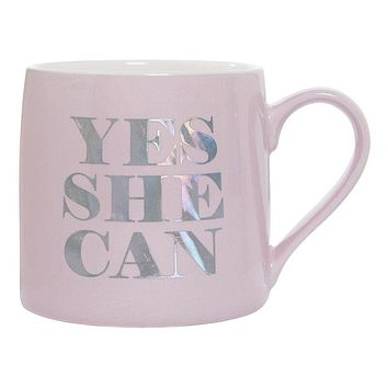 Yes She Can Jumbo Coffee Mug | Ceramic | 20 oz.