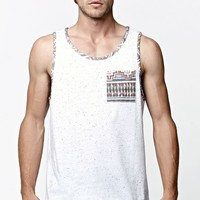On The Byas Ethnic Nep Pocket Tank Top - Mens Tee - White
