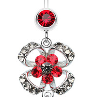 Flower Aura Belly Button Ring