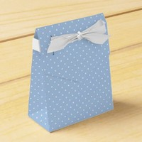 Baby Blue and White Polkadots Favor Boxes