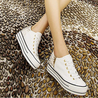 Fashion leopard printed platform shoes