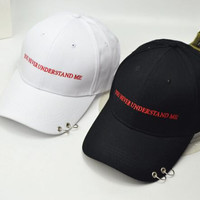 "So cool ring ""You Never Understand Me"" baseball cap"