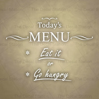 Kitchen Wall Decal, Phrases Words and Sayings, Vinyl Sticker, Pantry, Dining, Home Decor, Menu