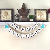Mr and Mrs Banner, Rustic Banner, Sweetheart Table, Wedding Background Photo Prop, Wedding Photo Props, Wedding Reception Decor