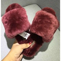 UGG wool in one word drag slippers shoes