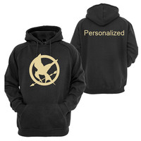 Mockingjay Hunger Games inspired Personalized Pullover Black Hoodie
