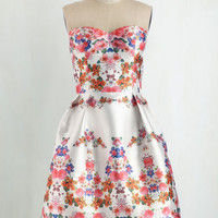 Short Length Strapless Fit & Flare Mirror to My Heart Dress
