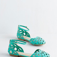 ModCloth Parade You Look! Flat in Jade