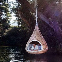 Garden suspended chair NESTREST Nestrest Collection by Dedon | design Fred Frety, Daniel Pouzet