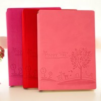 Embossed Faux Leather Cover Medium Notebook
