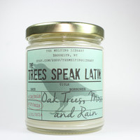 The Trees Speak Latin - Raven Cycle Inspired Candle