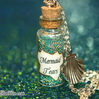 Mermaid Tears Magical Necklace with a Sea Shell Charm, Pirates of the Caribbean