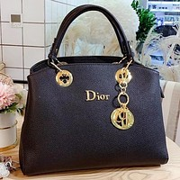 Hipgirls Dior New fashion leather shoulder bag crossbody bag handbag Black
