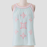 East Village Embroidered Top