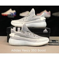 ADIDAS YEEZY 350 Tide brand men's mesh breathable casual shoes white