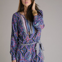 Crazy In Love Abstract Print Romper