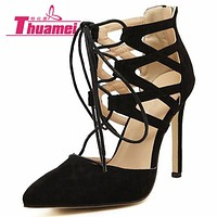 New Fashion Women Pumps Wedding Sexy Shoes High Heels Women Shoes Spring Summer Autumn Black Shoes Woman Thin Heels #Y0589637L