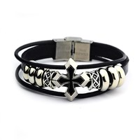 Shiny Awesome Stylish New Arrival Gift Great Deal Hot Sale Leather Rivet Ring Jewelry Men Accessory Bracelet [6526712579]