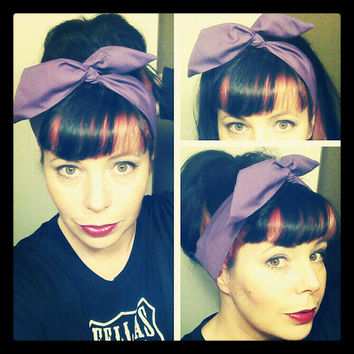 Skinny Dolly Bow Pick Your Color Hair Bow 1940s 1950s Vintage Style Fabric - Rockabilly - Pin Up - For Women, Tee