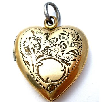 14K Gold Filled Locket Pendant Hyco Vintage