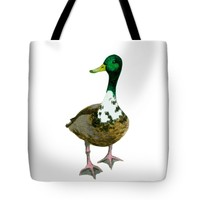 """A Proud Duck Tote Bag 18"""" x 18"""""""