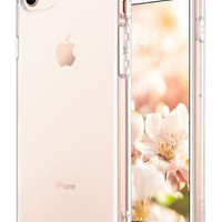 LMFON2D iPhone 8 Case Clear, iPhone 7 Case, ULAK Clear Slim Premium Hybrid Shock Absorbing & Scratch Resistant Clear Case Cover Hard Back Panel + TPU Bumper for Apple iPhone 8 & iPhone 7 4.7 inch-Clear