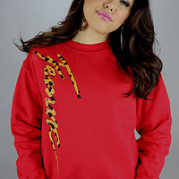 Femme Freak Femme Leopard Crew Red : Karmaloop.com - Global Concrete Culture