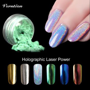 Verntion Shinning Dust Nail Art DIY 6 Colors Mirror Glitter Powder For Nails Chrome Pigment Nail Decoration