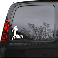 """Auto Car Sticker Decal Run Girl Running Woman Sports Truck Laptop Window 5"""" by 6.5"""" Unique Gift 187igc"""