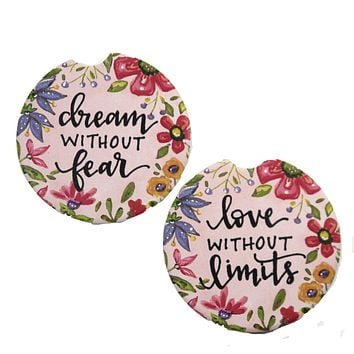 Car Coaster Love Without Limits Absorbant Cupholder - 79688 DREAM