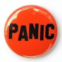 Panic Button Pinback Badge 1 inch by theangryrobot on Etsy