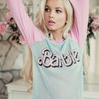 Wildfox Couture Barbie Warm Up Sweater in Honolulu Blue