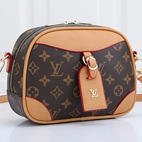 Louis Vuitton LV Shopping Bag Leather Chain Crossbody Shoulder Bag Satchel