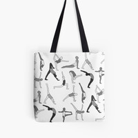'Asana Party' Tote Bag by silverlinedkind
