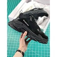 Balenciaga Triple S Trainers Black Sneakers-1
