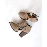 Not Rated - Nara cutout western inspired booties - Taupe