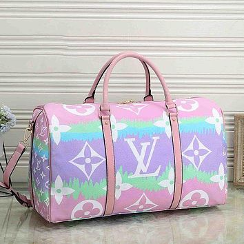 Louis Vuitton LV classic large-capacity handbag travel bag fashion men and women shoulder messenger bag duffel bag Luggage Bag